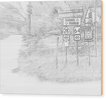 Wood Print featuring the digital art Passing Through by Angelia Hodges Clay