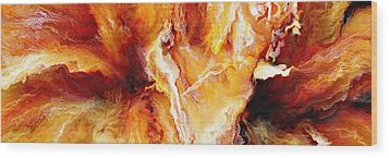 Passion - Abstract Art Wood Print