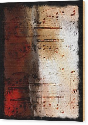 Wood Print featuring the digital art Passion And Light by Lon Chaffin