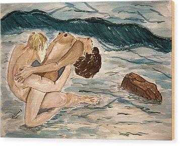 Passion Of Love. Wood Print by Shlomo Zangilevitch