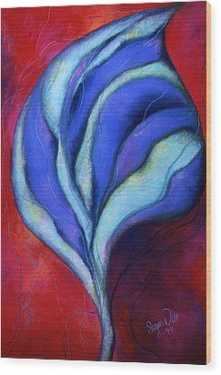 Wood Print featuring the pastel Passion by Susan Will