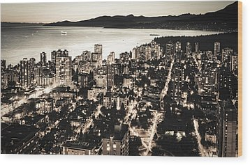 Passionate English Bay Mccclxxviii Wood Print