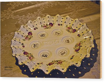 Passover Seder Plate2 Wood Print
