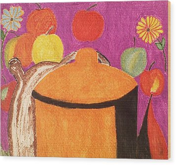 Pasta Pot II Wood Print by Lew Griffin