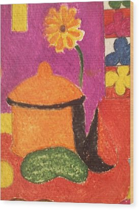 Pasta Pot Wood Print by Lew Griffin