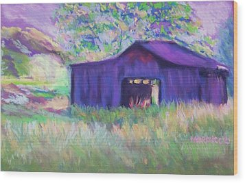 Pastel Barn II Wood Print