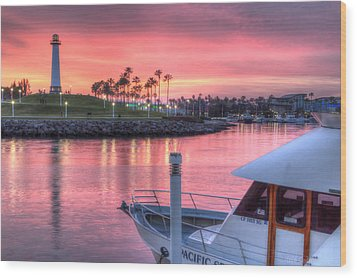Pastel Colored Sunset Wood Print by Heidi Smith