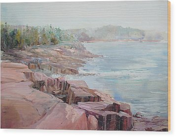 Pastel Cove Wood Print by P Anthony Visco
