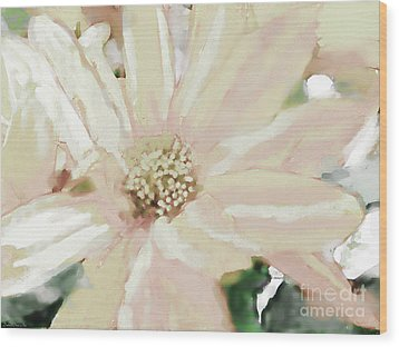 Pastel Daisy Photoart Wood Print