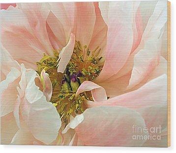 Pastel Floral Wood Print by Kaye Menner