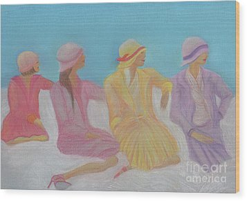 Pastel Hats By Jrr Wood Print by First Star Art