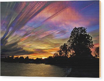 Pastel Pallet Wood Print by Matt Molloy