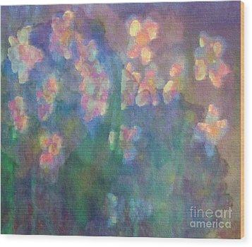 Pastel Petals Wood Print by Holly Martinson