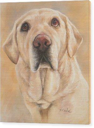 Pastel Portrait Wood Print by Karen Cade