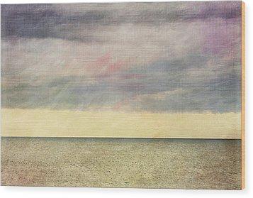 Pastel Sea - Textured Wood Print