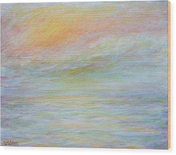 Pastel Sea  Wood Print