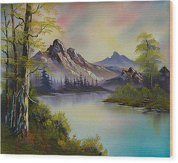 Pastel Skies Wood Print by C Steele