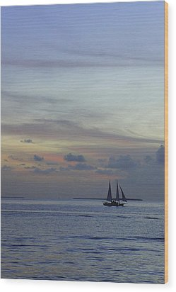 Wood Print featuring the photograph Pastel Sky by Laurie Perry