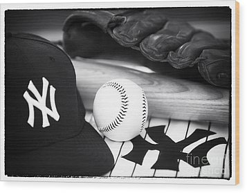 Pastime Essentials Wood Print by John Rizzuto