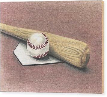 Pastime Wood Print by Troy Levesque