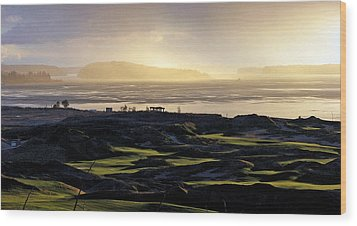 Wood Print featuring the photograph Pastoral Symphony - Chambers Bay Golf Course by Chris Anderson