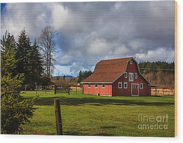 Wood Print featuring the photograph Pasture For Rent by Jean OKeeffe Macro Abundance Art