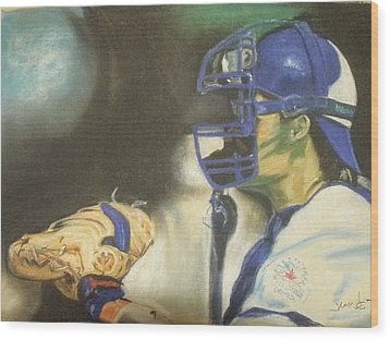Pat Borders Wood Print by James Holding