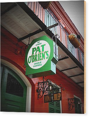 Pat O's Wood Print by Beth Vincent