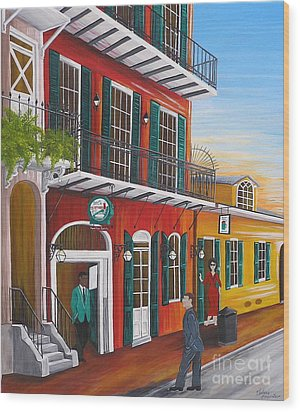 Pat O's Courtyard Entrance Wood Print