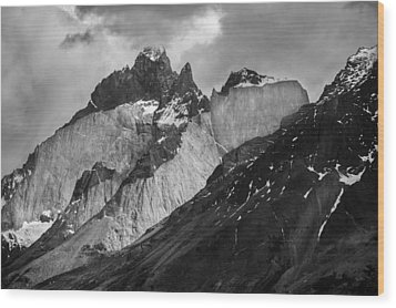 Patagonian Mountains Wood Print