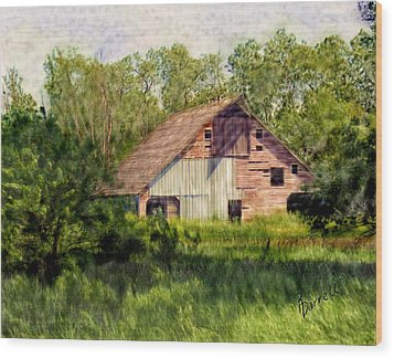 Patchwork Barn Wood Print