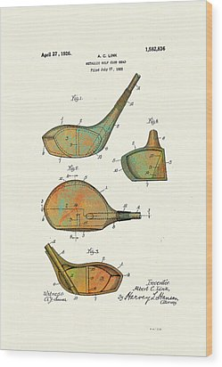 Patented Golf Club Heads 1926 Wood Print by Marlene Watson
