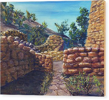Path At Old Mission Wood Print by Lenora  De Lude