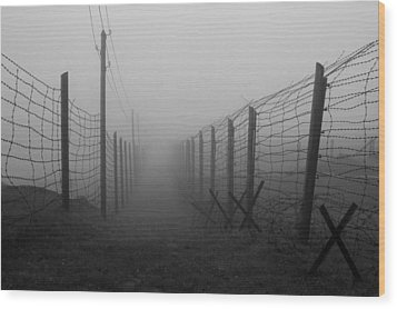 Path Of No Return Wood Print by Patrick Jacquet