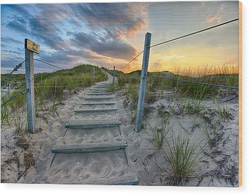 Path Over The Dunes Wood Print