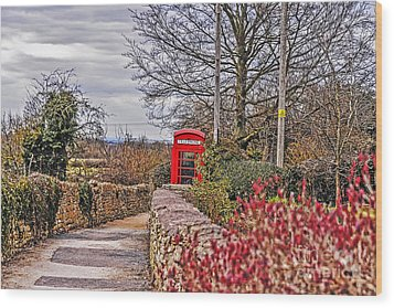 Path Through The Cotswolds Wood Print