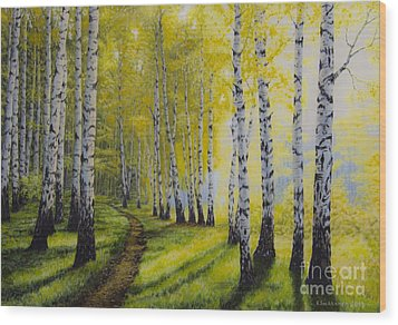 Path To Autumn Wood Print by Veikko Suikkanen