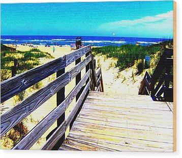 Path To The Beach Wood Print by Scott Hamilton