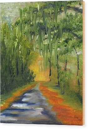 Path To The Beach Wood Print by Sherry Robinson