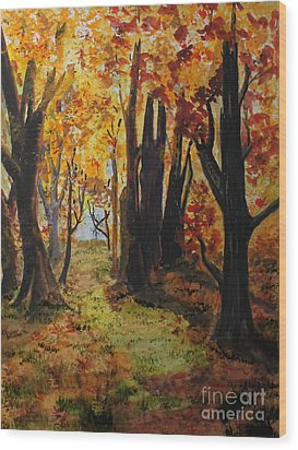 Path To The Edge Wood Print by Jack G  Brauer