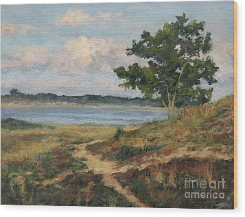 Path To The Harbor Wood Print by Gregory Arnett