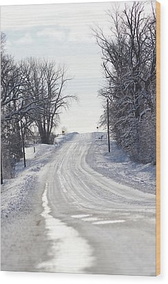 Wood Print featuring the photograph Path To The Unknown by Dacia Doroff