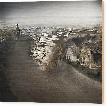 Paths Wood Print by Akos Kozari