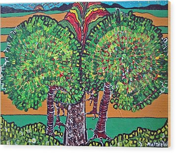 Pathway Home Wood Print by Matthew  James