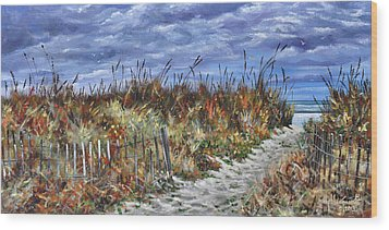 Pathway To North Myrtle Beach Wood Print