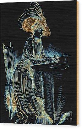 Patience Digital 1910 Wood Print by Padre Art
