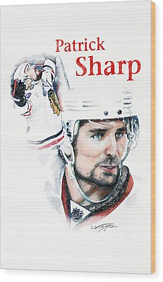 Patrick Sharp - The Cup Run Wood Print by Jerry Tibstra