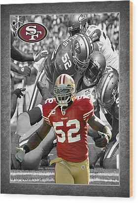 Patrick Willis 49ers Wood Print by Joe Hamilton