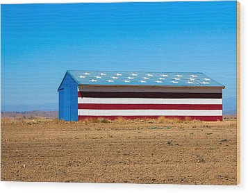 Patriotic Barn Wood Print