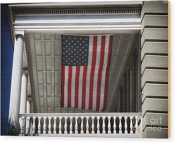 Patriotic Charleston Wood Print by John Rizzuto